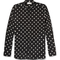 Saint Laurent - Polka-Dot Silk-Crepe Shirt | MR PORTER