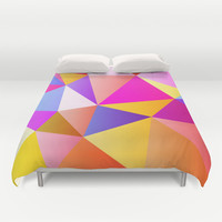 Pink & Yellow No. 3 Duvet Cover by House of Jennifer