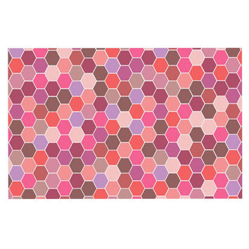 "Nandita Singh ""Blush"" Tiled Pink Decorative Door Mat"