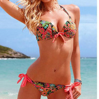 CUTE FLOWER BOW BIKINI