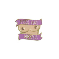 Free The Nipple Enamel Pin