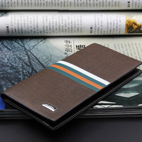 Men Wallets Long Version Hasp Fashion Money Bag Cow Leather Coin Pocket Simply Style Wallet Purses Card Holder