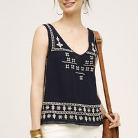Laelia Tank in Navy Size: