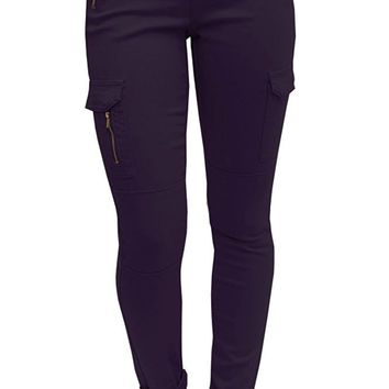 Jeans Skinny Cargo Pant With Zipper Jeans