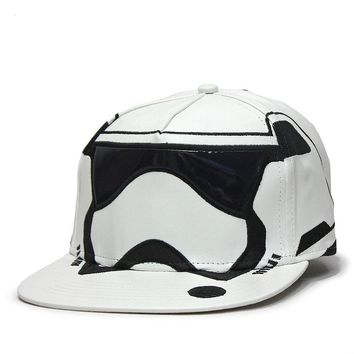 Star Wars Episode 7 Trooper Big Face Flat Brim Snapback Baseball Cap