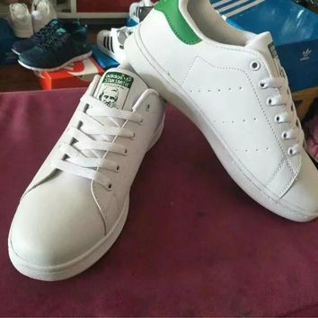 Adidas Fashion Casual Unisex Sneakers Plate Shoes STAN SMITH Small White Shoes Couple Running Shoes-3