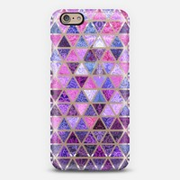 Berry Purples - Triangle Patchwork Pattern iPhone 6 case by Micklyn Le Feuvre | Casetify