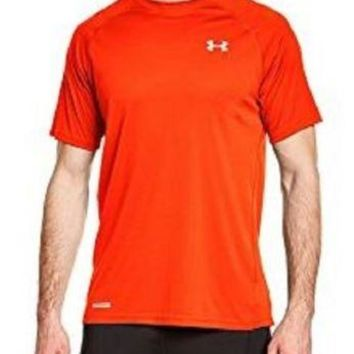 Under Armour Men's Fitted Sonic Vented Short Sleeve Orange Run 3XL 1262991-860