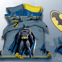 2016 arrival kids bedding set batman Anna minions Avengers Bedspread  bedding sets,duvet cover,bed sheet quilt full queen size