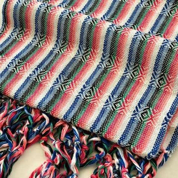 Mexican Rebozo Shawl - Colors of Faith