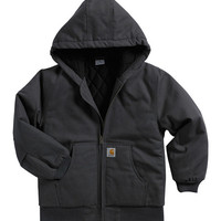Dark Gray Duck Hooded Jacket - Boys