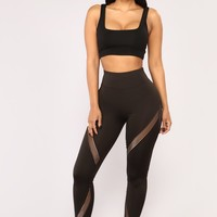 Feel It Burn Active Leggings - Black