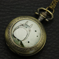 Necklace Pocket watch totoro 3