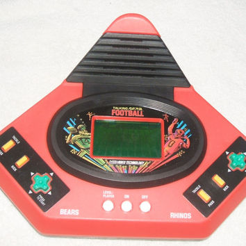 Vintage V-Tech Video Technology Talking Play by Play Football Handheld Electronic Game Portable Battery Operated