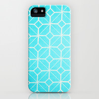 Miami - Retro Turquoise Blue Geometric iPhone 4, 4s, 5, 5s, 5c, Samsung Galaxy s3, s4 & iPod Case by alterEGO