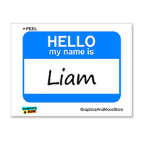 Liam Hello My Name Is Sticker