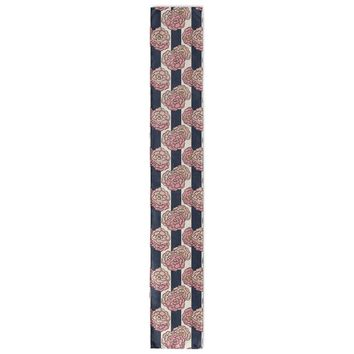 NAUTICAL PINK FLORAL PATTERN Table Runner By Northern Whimsy