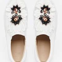 ASOS DELICIOUS Embellished Trainers at asos.com