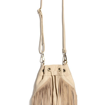 Best in the West Beige Bucket Bag