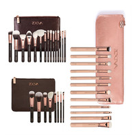 ZOEVA Rose golden Many kinds Makeup blending Brushes set 8 12 15 pcs make up brush  Face Eyes Cosmetic Tools With Soft Bristles
