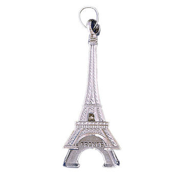 14K WHITE GOLD EIFFEL TOWER CHARM #11279