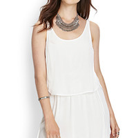 LOVE 21 Layered Knit Dress Ivory Medium