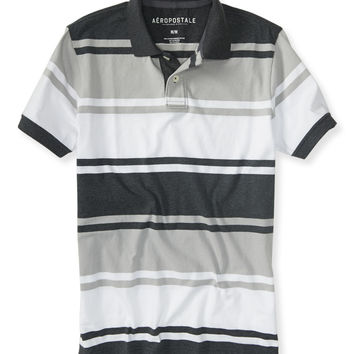 Aeropostale  Striped Jersey Polo