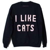 Burger And Friends — I Like Cats Sweatshirt