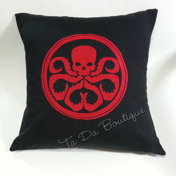 Hydra Embroidered Pillow Case Cover