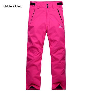 Free Shipping Winter Outdoor Windproof Snowboard Pants Women And Men  Snow Pants Trousers Waterproof Warm Breathable ski Pants