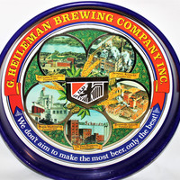 Vintage 1977 G. Heileman Brewing Company Commemorative Beer Tray, Serving Tray