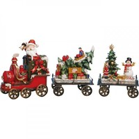 Christmas Train Decoration Set Of 3