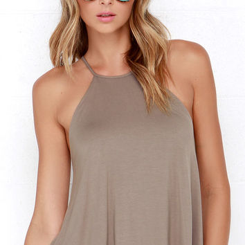 Brave Silence Taupe Top