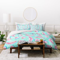Lisa Argyropoulos Summertime In Aqua Duvet Cover