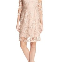Vera Wang Sequin Embroidered Lace A-Line Dress | Nordstrom