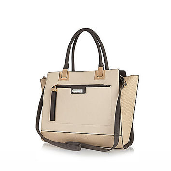 River Island Womens Cream large two in one tote bag