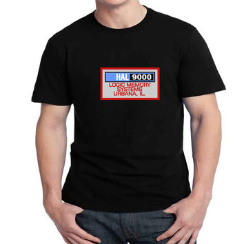 Hal 9000 Logic Memory Systems Mens T-shirt Black and White