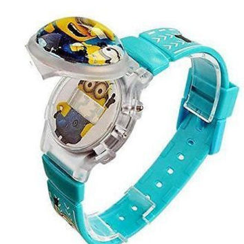 "Despicable Me "" Minion"" Flip Top Digital Watch w/ Floating Star and Lights"