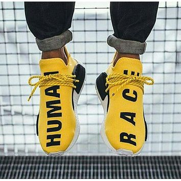 """Adidas"" NMD Human Race Black Leisure Running Sports Shoes Yellow"