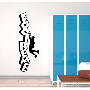 Vinyl Wall Decal Extreme Sport Rock Climbing Climber Word Room Decoration Stickers (2986ig)