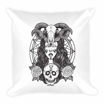 Satanic Princess Square Pillow