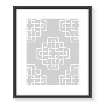Grey Minimalist Print, Grey Minimal Art, Wall Decor, Geometric Print, Geometric Art,  Digital Print, Modern Print, Printable Wall Art