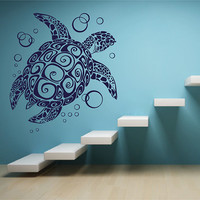 ik2871 Wall Decal Sticker sea turtle living room bedroom bathroom