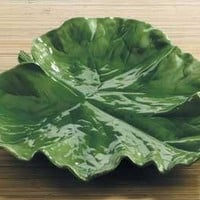 Pumpkin Leaf Serving Ceramic Platter 15L - 6213