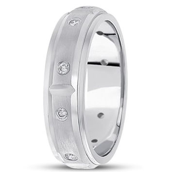 0.30ctw Diamond 14K Gold  Wedding Band (6mm) - (F - G Color, SI2 Clarity)