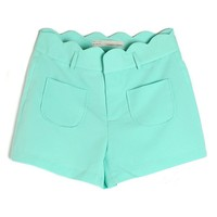 Candy Color Cotton Blend Shorts with Twin Pockets