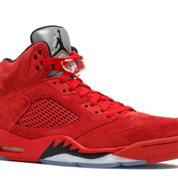 "Jordan Retro 5 ""Red Suede"" University Red/Black"