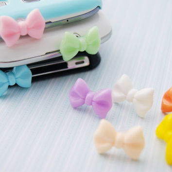 1 Mini Bow Bowtie Dust Stopper Plugs 1 Pieces