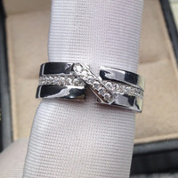 Jewelry Gift New Arrival Shiny Stylish Style Classics Diamonds 925 Silver Ring [4989656196]