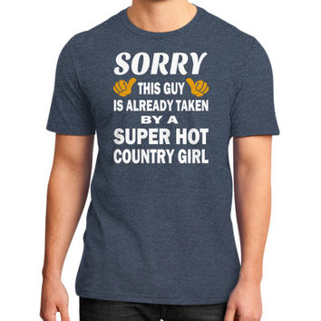 Taken by a super hot country girl District T-Shirt (on man)